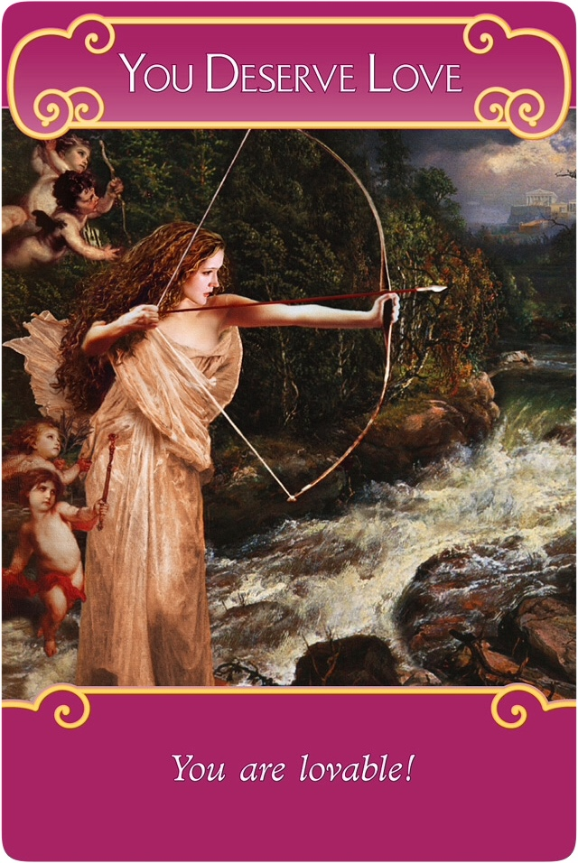 You Deserve Love from the Romance Angels Oracle Cards