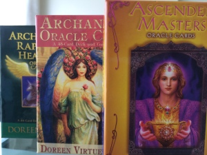 The Ascended Masters Oracle Cards is the first deck of mine. ~Healing Readings with Nalikolehua