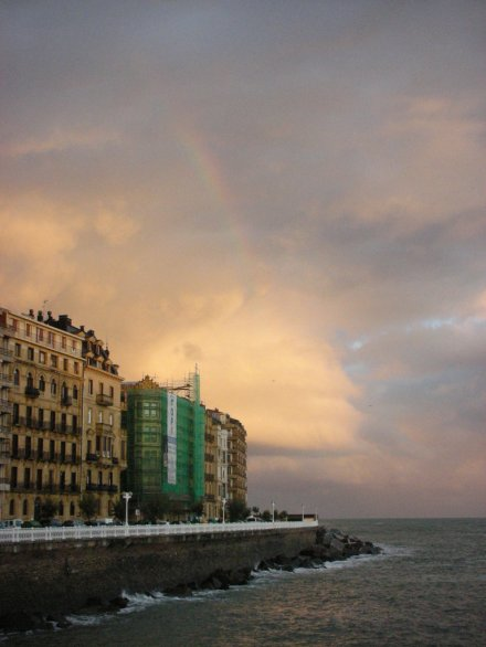 Rainbow at Donostia - San Sebastián, Spain