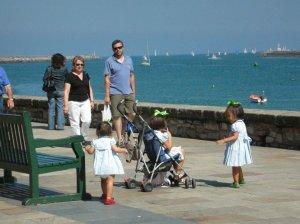 Three girls at Hondarribia