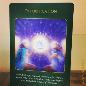 Detoxification ~ Archangel Raphael Healing Oracle Cards