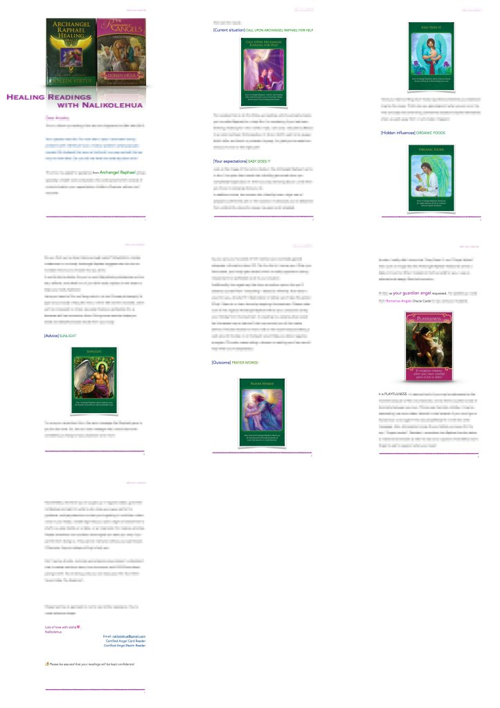 Healing Reading sample image ~ Healing Readings with Nalikolehua
