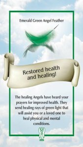 Restored health and healing ~The Angel Feather Oracle Cards