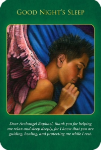 Good Night's Sleep ~Archangel Rapahael Healing Oracle Cards