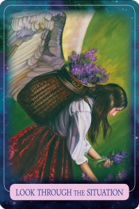 Look through the situation from Indigo Angel Oracle Cards