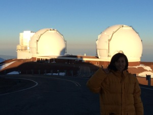 Subaru Telescope and me at the summit of Mauna Kea