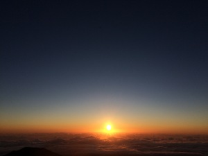 Sunrise from the summit of Mauna Kea