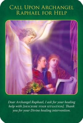 大天使ラファエルに助けを求めましょう〜大天使ラファエルヒーリングオラクルカード