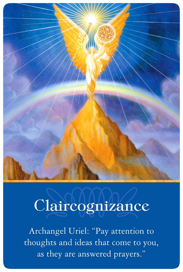 Claircognizance from Archangel Uriel of Archangel Oracle Cards