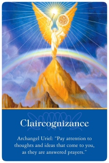 Claircognizance from Archangel Uriel ~Archangel Oracle Cards