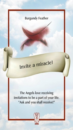 Invite a miracle! of the Angel Feather Oracle Cards