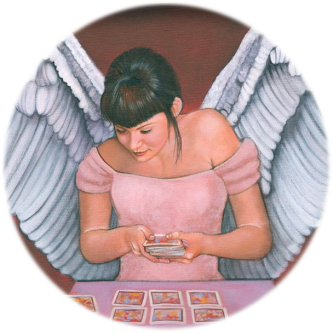 An Angel reading Oracle Cards!