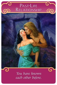 Past-Life Relationship: You have known each other before from Romance Angels Oracle Cards