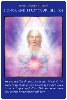 Honor and Trust Your Feelings ~Archangel Michael Oracle Cards