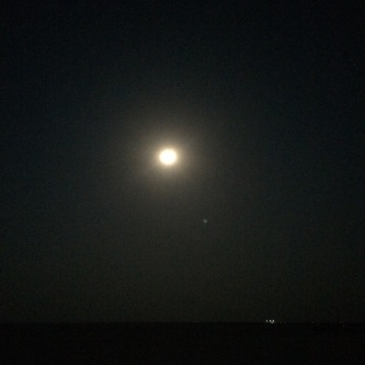 The Moon at the Great Rann of Kutch