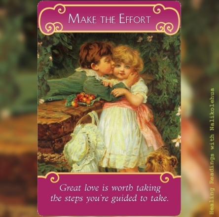 行動する/Make the Effort ~ロマンスエンジェルオラクルカード