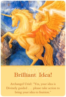 Brilliant Idea! from Archangel Uriel ~ Archangel Oracle Cards