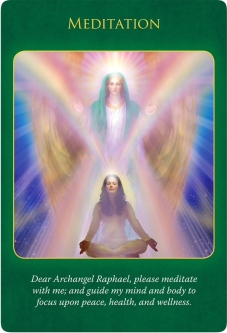 Meditation from the Archangel Raphael Healing Oracle Cards
