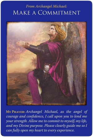 Make a commitment from Archangel Michal Oracle Cards