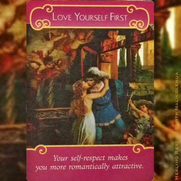まず自分を愛して/Love Yourself First 〜ロマンスエンジェルオラクルカード