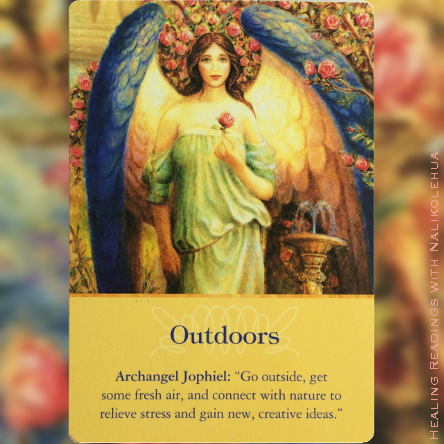 Outdoors from Archangel Jophiel ~Archangel Oracle Cards
