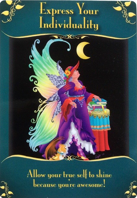 Express Your Individuality from the magical messages from the Fairies Oracle Cards