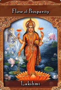 Flow of Prosperity from Lakshmi of Ascended Masters Oracle Cards