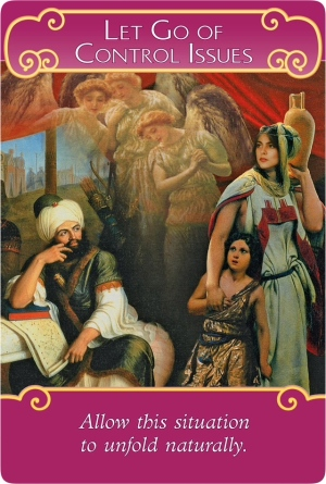 Let Go of Control Issues from the Romance Angels Oracle Cards