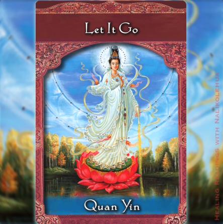 手放す/Let It Go 観音(Quan Yin)より 〜アセンディッドマスターオラクルカード