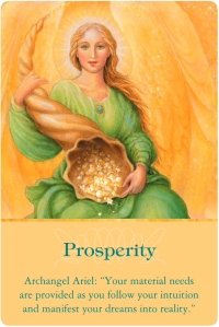 Prosperity from Archangel Ariel of Archangels Oracle Cards