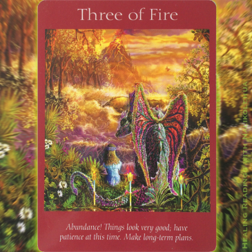 Three of Fire ~ Tarot Angel Cards