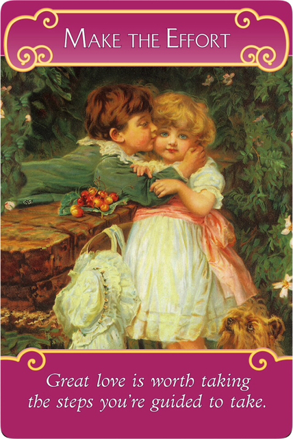 Make the Effort from the Romance Angel Oracle Cards
