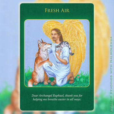 Fresh Air from the Archangel Raphael Healing Oracle Cards