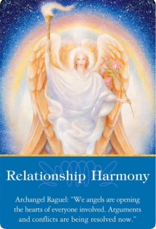 Relationship Harmony from Archangel Raguel of the Archangel Oracle Cards
