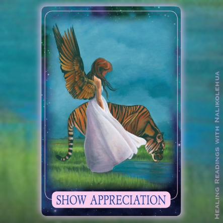 Show Appreciation of the Indigo Angel Oracle Cards