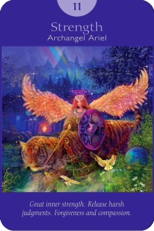 Strength from Archangel Ariel of the Angel Tarot Cards