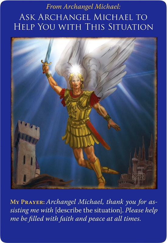 《大天使ミカエルに助けを求める/Ask Archangel Michael to Help You with This Situation》〜大天使ミカエルオラクルカードより