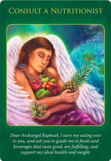 Consult a Nutritionist of Archangel Raphael Healing Oracle Cards