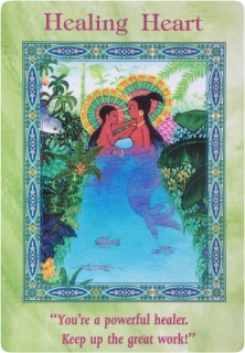 Healing Heart of the Magical Mermaids & Dolphins oracle cards