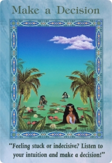 Make a Decision of the Magical Mermaids & Dolphins oracle cards