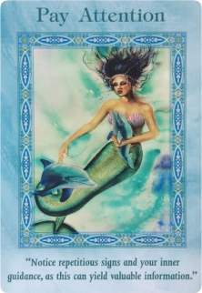 Pay Attention of the Magical Mermaids & Dolphins oracle cards