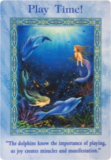 Play Time! of the Magical Mermaids & Dolphins oracle cards