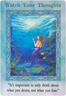 Watch Your Thoughts of the Magical Mermaids & Dolphins oracle cards
