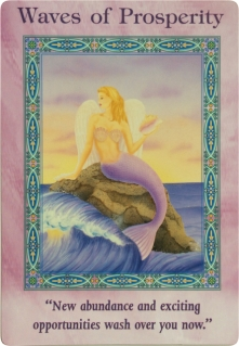 Waves of Prosperity of the Magical Mermaids & Dolphins oracle cards