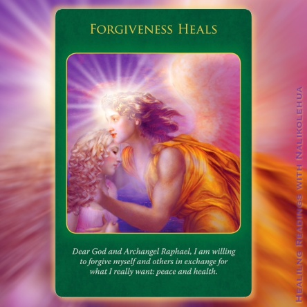 Forgiveness Heals of Archangel Raphael Healing Oracle Cards