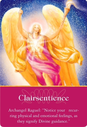 Clairsentience from Archangel Raguel of the Archangels Oracle Cards