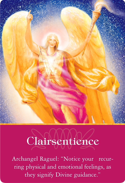 Clairsentience from Archangel Raguel of Archangels Oracle Cards