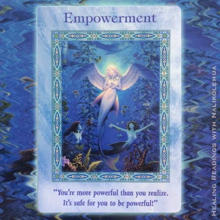 """Empowerment"" of the Magical Mermaids and Dolphins Oracle Cards"