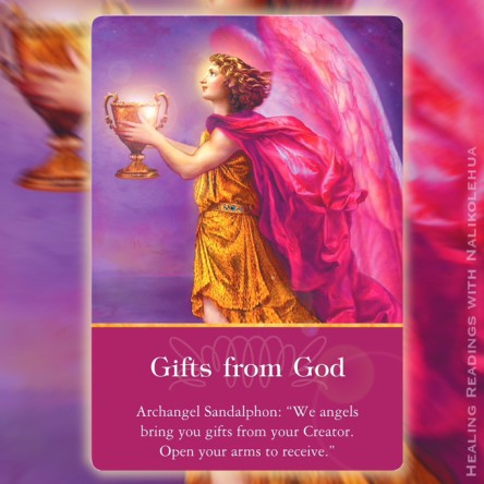"""Gifts from God"" from Archangel Sandalphon of Archangel Oracle Cards"