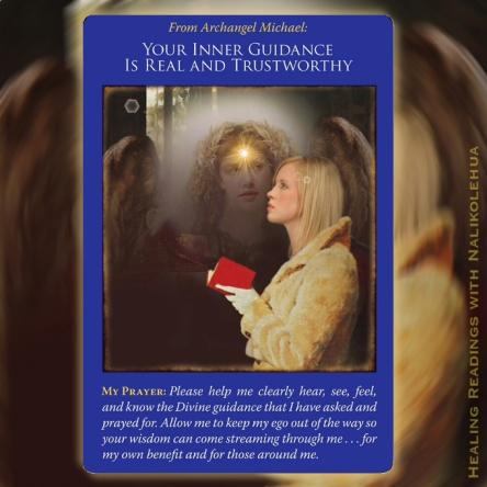 Your Inner Guidance is Real and Trustworthy/内なるガイダンスは本物で、信頼できます 〜大天使ミカエルオラクルカード